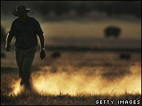 Farmer in Australian drought