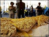 Italian shop selling Pasta