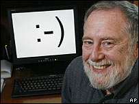 Professor Scott E Fahlmann, named as inventor of the computer smiley, which features a hyphen or dash