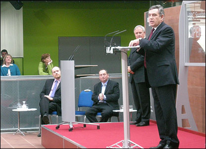 The Prime Minister Gordon Brown