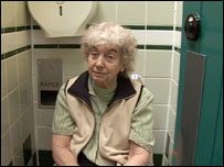Gwyneth Coles spent the night in the public toilet