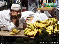 A man selling bananas in Gaza