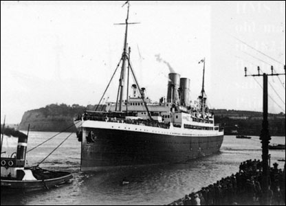 SS Minnedosa arrives, 25 May 1929