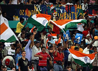 India fans in Durban