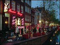 Амстердамский квартал красных фонарей