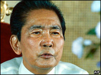 Ferdinand Marcos, former Philippines dictator, pictured in1986