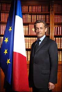French President Nicolas Sarkozy - the official portrait from the presidential website