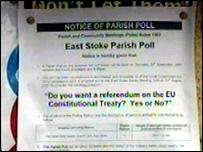 East Stoke referendum poster