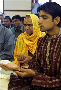 Members of Shree Swaminarayan Temple, Cardiff