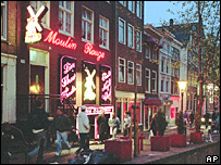 Zona roja de Amsterdam.