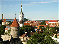 View over skyline of Tallinn, capital of Estonia