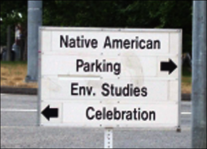 University campus sign, by Monica Papp