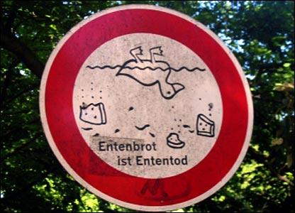 Dead ducks sign, by James de Waal