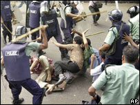 Protest in Dhaka on Friday