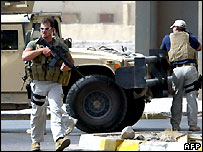 Blackwater guards in Baghdad - file photo 05/07/2007
