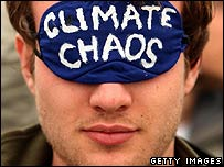 Climate change protestor
