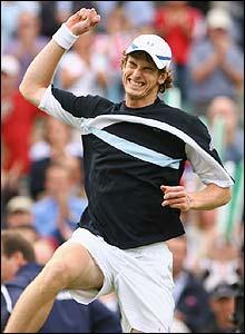Murray celebrates his victory