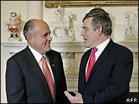 Rudy Giuliani and Gordon Brown
