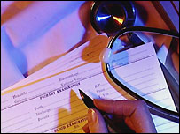 Medical form being filled out - generic