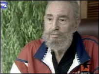 Fidel Castro in a pre-recorded interview on Cuban state TV (21.09.07)