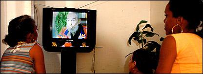 كاسترو يظهر على الشاشة