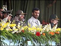 President Ahmadinejad and military leaders