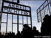 The gates at Sachsenhausen concentration camp