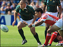 Tonga gave South Africa a big scare in Lens