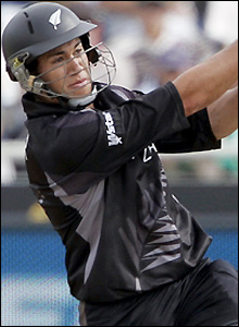 Taylor scores four boundaries during his innings