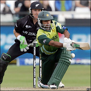 Hafeez executes a shot in Cape Town