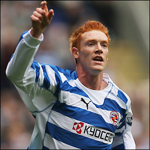 Dave Kitson puts Reading ahead in the 29th minute