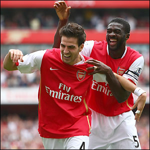 Fabregas and Kolo Toure savour Arsenal's fourth