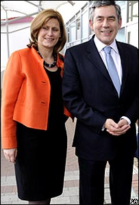 Prime Minister Gordon Brown and his wife Sarah on their way to conference