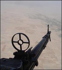 Flying over Helmand