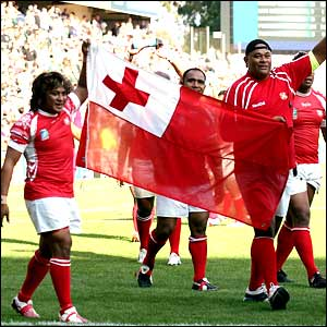 Tonga go on a lap of honour