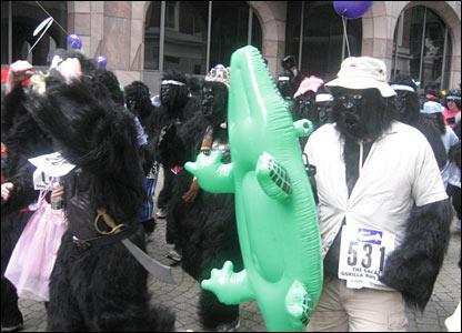 Gorilla runners. Photo: Dean Baruah