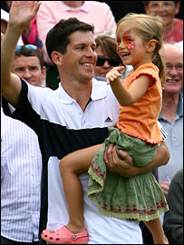 Henman and eldest daughter Rosie