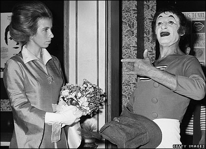 Princess Anne and Marcel Marceau
