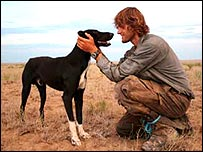 Tim Cope and Tigon his dog (from Tim Cope Journeys website)