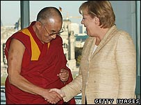 The Dalai Lama meets German Chancellor Angela Merkel