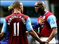 Gabriel Agbonlahor and Marlon Harewood are separated