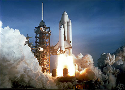 Space shuttle Columbia launches from Cape Canaveral. Image: Nasa.