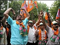 Activists from India's main opposition Bharatiya Janata Party (file photo)