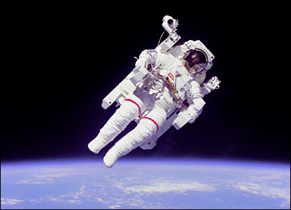 Bruce McCandless in jet pack. Image: Nasa.