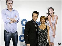 Dane Cook, left, and Jessica Alba at the LA premiere of Good Luck Chuck