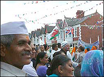 Celebrations outside the temple