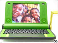 La computadora portátil XO.