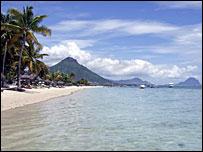 Flic et Flac beach Mauritius