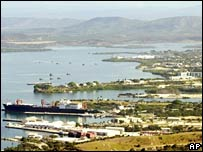 US naval base at Guantanamo Bay in file photo from 2002