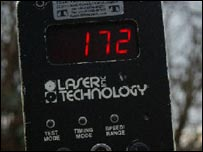 Radar that clocked Timothy Brady (Copyright Thames Valley Police)